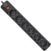 Сетевой фильтр 1.8м, 6 розеток, Defender DFS 151, черный