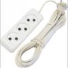 Удлинитель электрический 5м, 3 розетки, белый, Крона