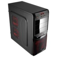 Корпус Aerocool V3X Advance Devil Red Edition ATX, USB 3.0, без БП. 1х 12см фронтальный LED вентилятор.